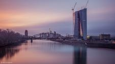 Sonnenuntergang von der Osthafenbrücke aus gesehen...wunderschöne Skyline