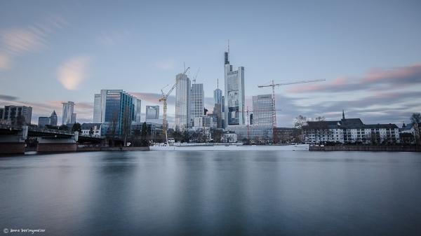 Skyline am Sonntagnachmittag mit Graufilter