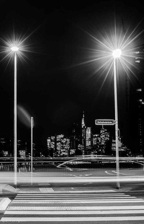 Osthafenbrücke Skyline Blick