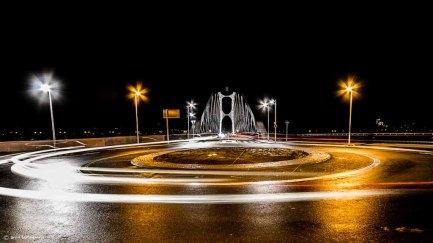 Osthafenbrücke in Farbe