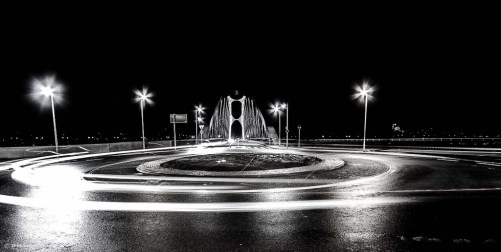 Osthafenbrücke in SW