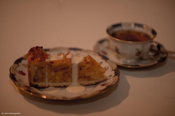 Lecker Apfelkuchen mit Vanillesoße
