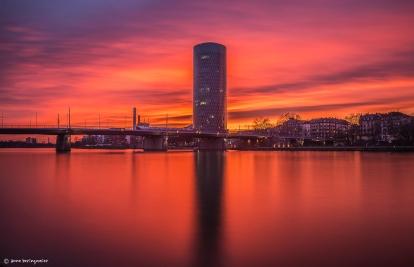 Sonnenuntergang in FFM