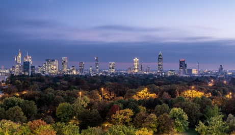 Die Skyline im Herbst aus einer anderen Perspektive